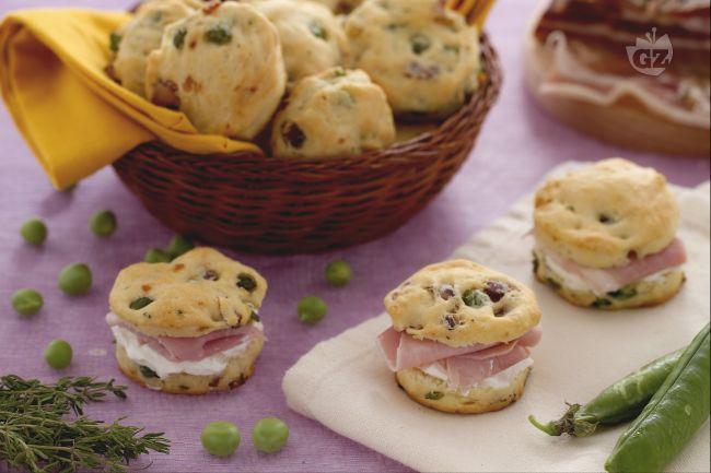Ricetta scones salati ai piselli e pancetta