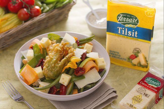 Ricetta insalata primavera con verdure e formaggi