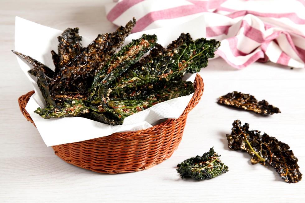 Ricetta chips di cavolo nero al forno