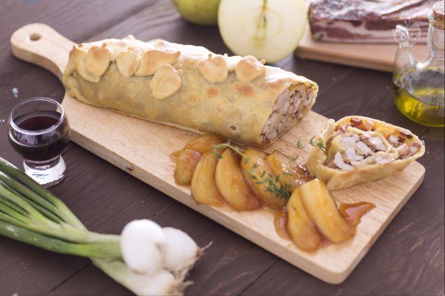 Ricetta strudel di maiale con mele al marsala