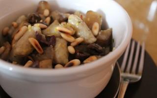 Ricetta gnocchetti di topinambur con olive taggiasche, limone e pinoli