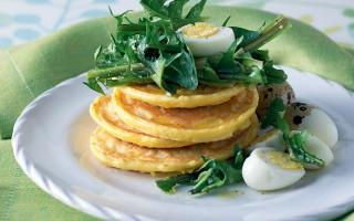 Ricetta tortini di ceci con uova di quaglia e tarassaco