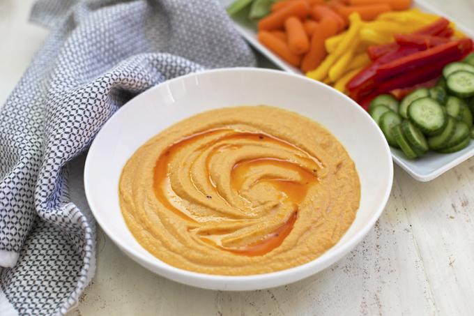 Hummus di peperoni arrostiti