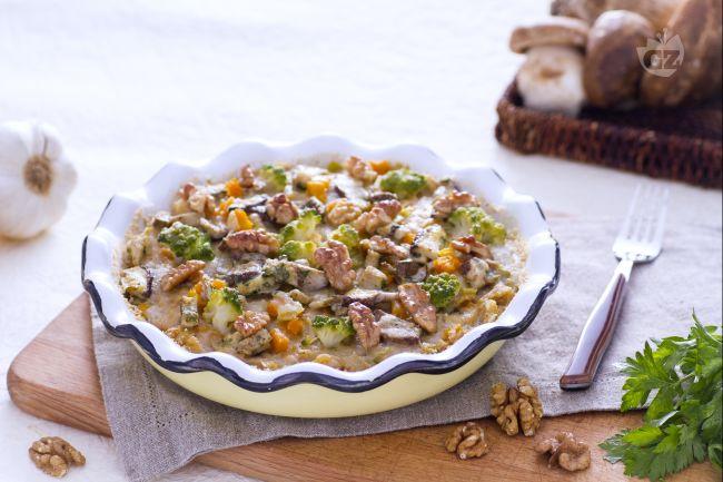 Ricetta timballo di verdure e noci