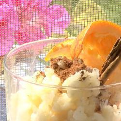 Budino di riso e cannella
