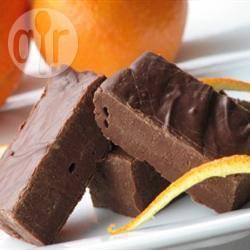 Fudge al cioccolato e arancia