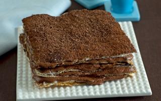 Ricetta millefoglie con mousse di cioccolato