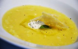 Ricetta zuppa di polenta e patate con gorgonzola