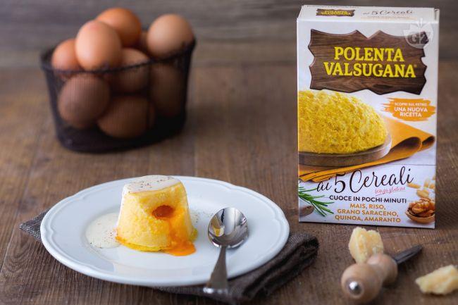 Ricetta tortino di polenta con cuore fondente