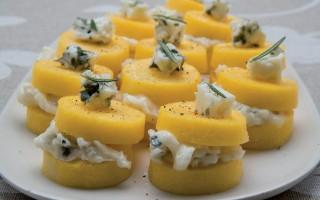 Ricetta crostini di polenta al gorgonzola