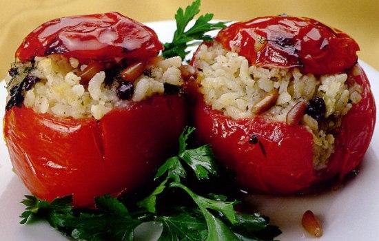 Pomodori ripieni di riso  microonde