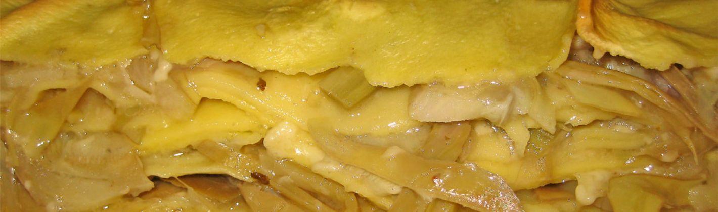 Ricetta lasagne ai carciofi e patate