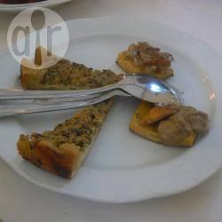 Antipasto di polenta, funghetti e fontina