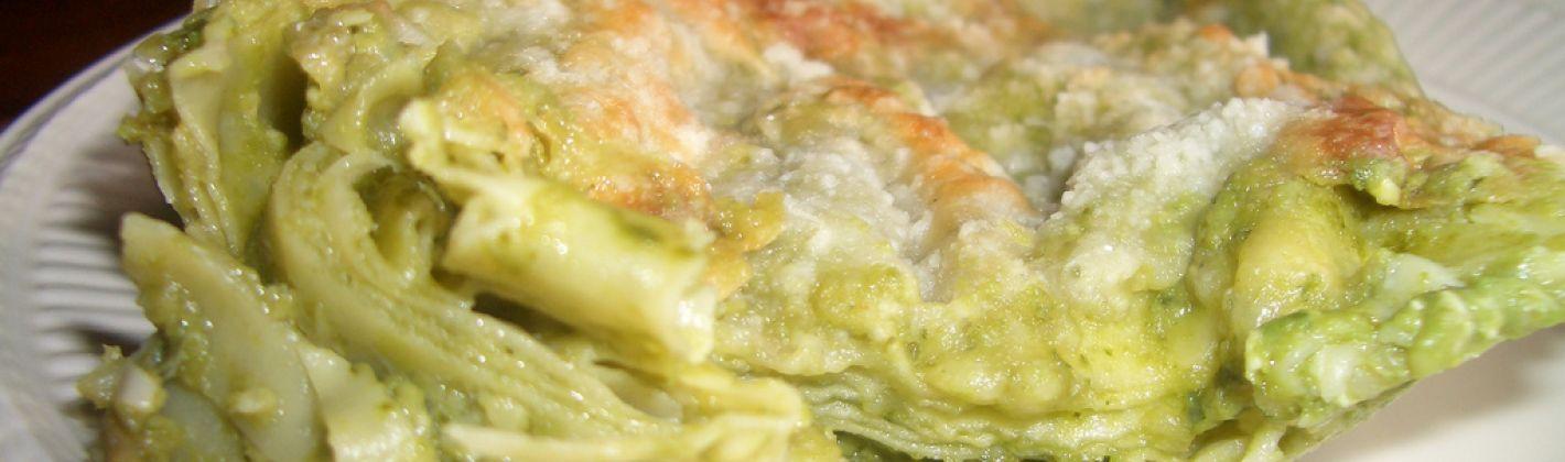 Ricetta lasagne al pesto e funghi