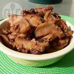 Mele al forno con uvetta e noci