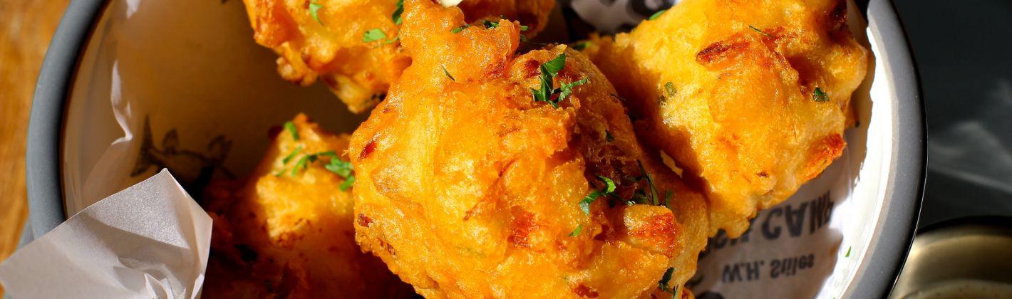 Ricetta bignè fritti di pesce