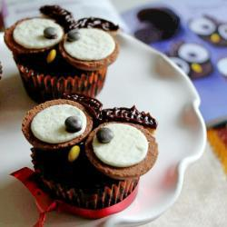 Gufetti di cupcakes di halloween