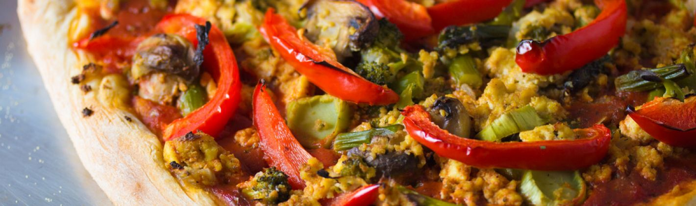 Ricetta pizza vegan alle otto verdure