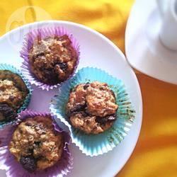 Muffin di panettone al cioccolato