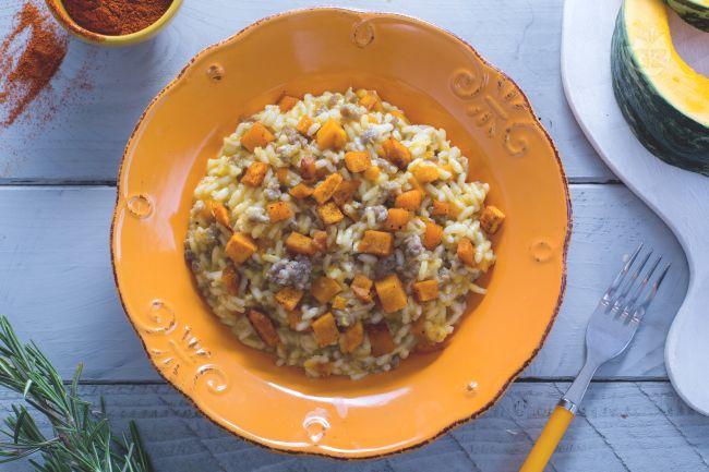 Ricetta risotto con zucca e salsiccia