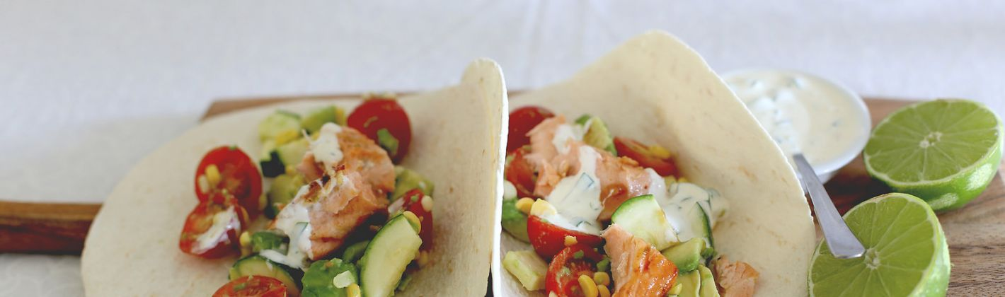 Ricetta tacos al salmone grigliato