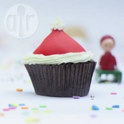 Cupcake a cappello di babbo natale