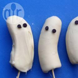 Lollipops di banane e cioccolato bianco