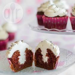 Cupcake al cioccolato con panna montata