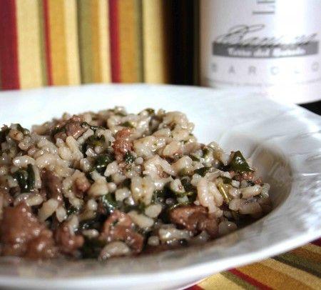Ricetta risotto con salsiccia e spinaci