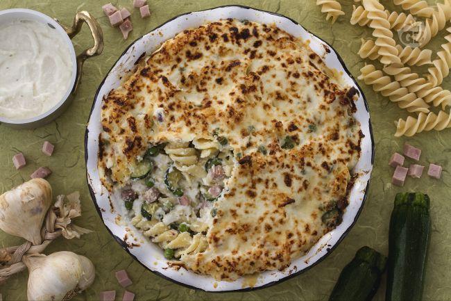Ricetta pasta al forno bianca