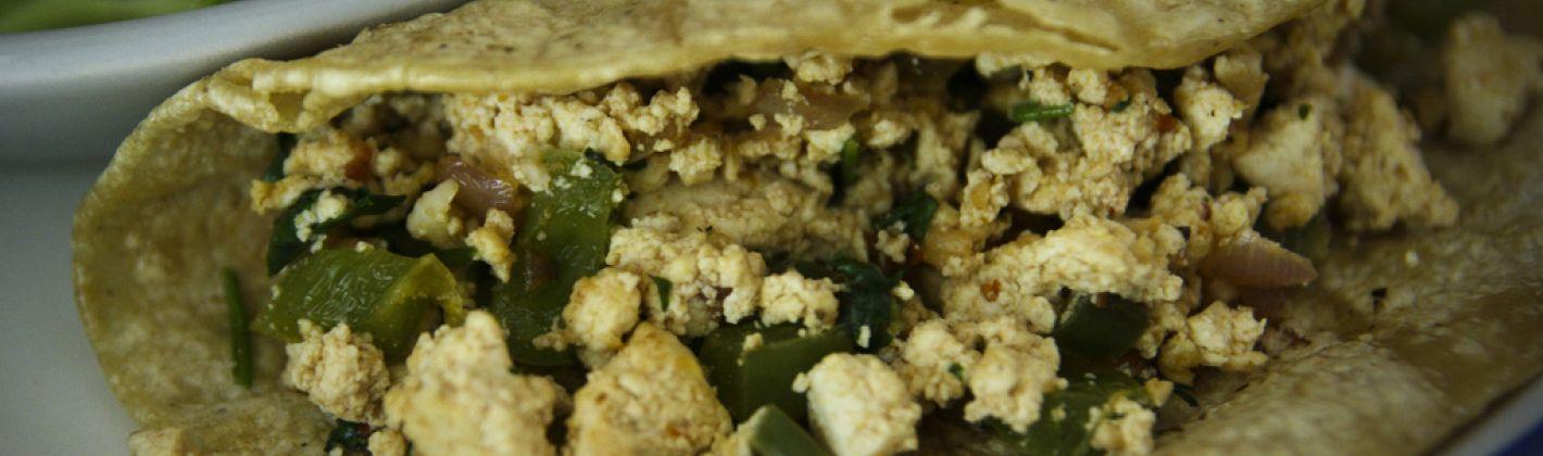 Ricetta tortillas al tofu e peperoni
