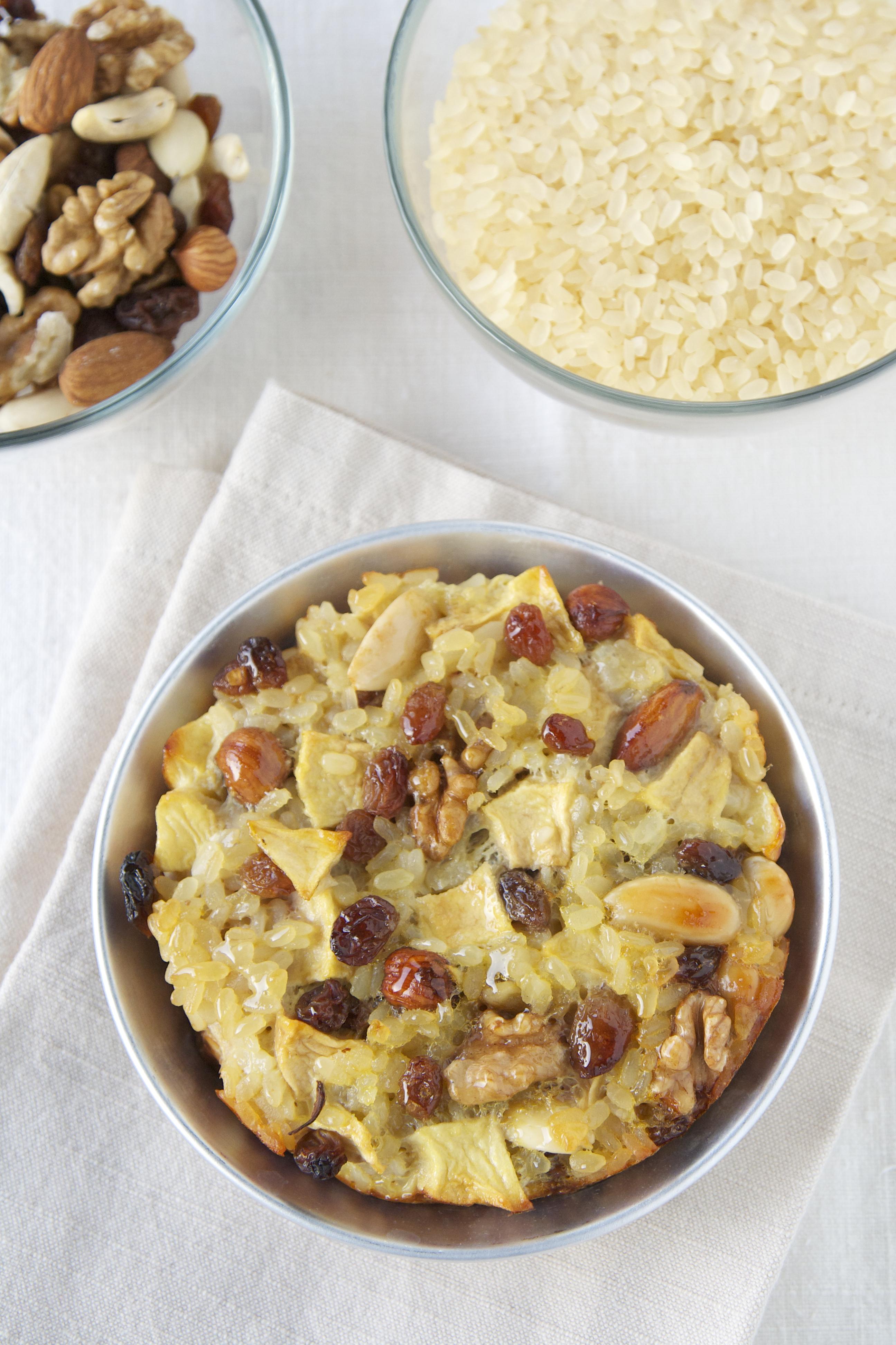 Torta di riso, con riso gallo gran gusto, wellness mix frutta secca ...