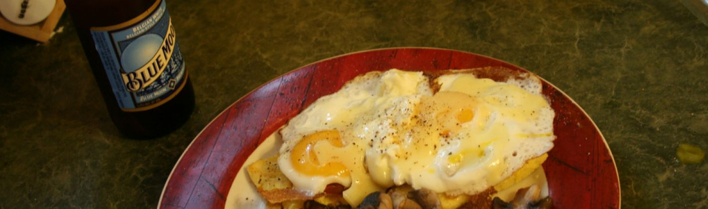 Ricetta crostoni di polenta con funghi e uova