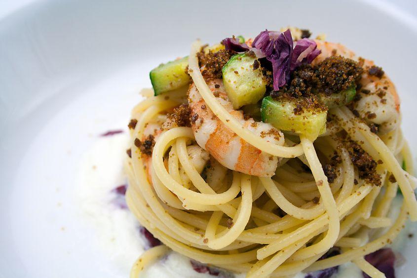 Ricetta pasta zucchine e gamberetti con il bimby