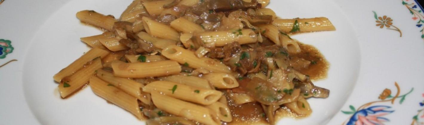 Ricetta pasta con carciofi e funghi