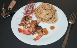 Ricetta gamberoni con croccante di foie gras e nocciola ...