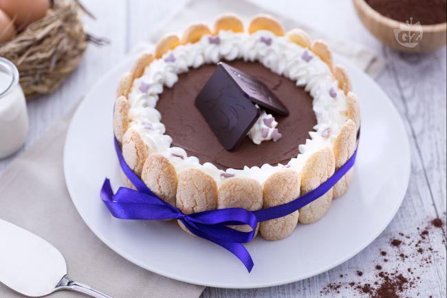 Ricetta charlotte con mousse al cioccolato fondente