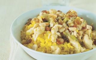 Ricetta insalata di riso e pollo con zenzero e zafferano