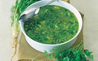 Ricetta zuppa di piselli con lattuga