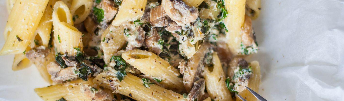 Ricetta pasta con i funghi al forno