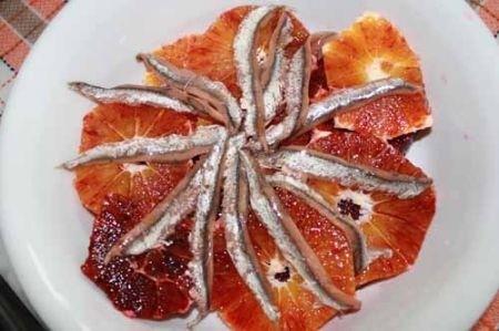 Ricetta insalata di arance ed acciughe salate