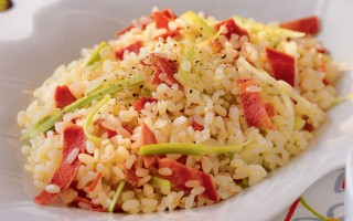 Ricetta insalata di riso con lingua salmistrata e sedano