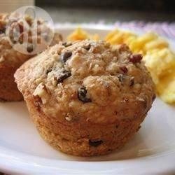Muffin all'avena cioccolato e noci