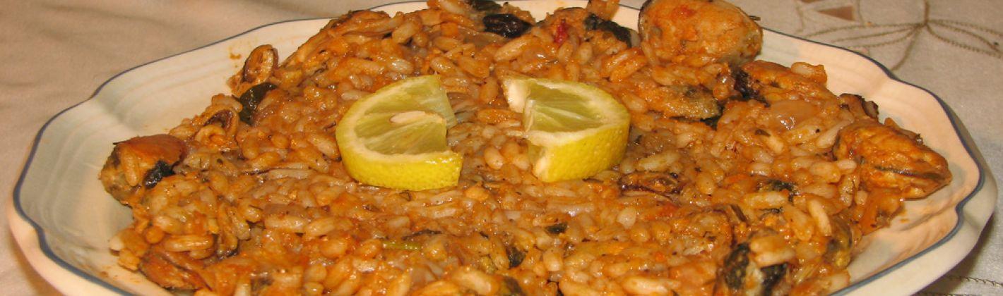 Ricetta insalata di riso allo zafferano con cozze e moscardini ...