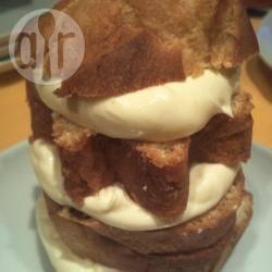 Torretta di panettone e pandoro con crema al mascarpone