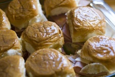 Ricetta decorazioni: corona di mini panini