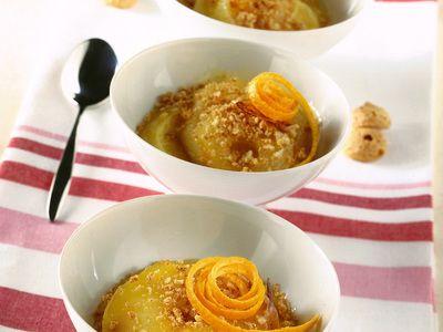 Ricetta dessert di mele e pere con salsa all'arancia