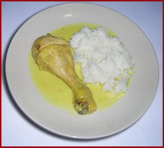 Riso con pollo al cocco