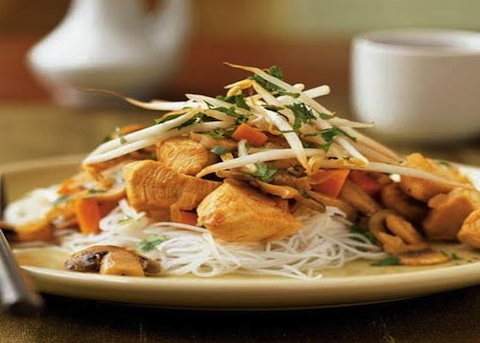 Pollo ai germogli di soia