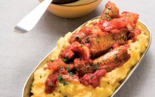 Ricetta polenta, spuntature e salsicce